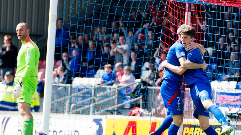 Ryan Christie: Celebrates opening the scoring for Inverness Caledonian Thistle