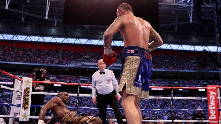 Mitchell knocks down Maduma at Wembley