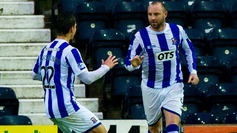 Kris Boyd (r) and Vitalijs Maksimenko: Celebrate Kilmarnock's decisive goal