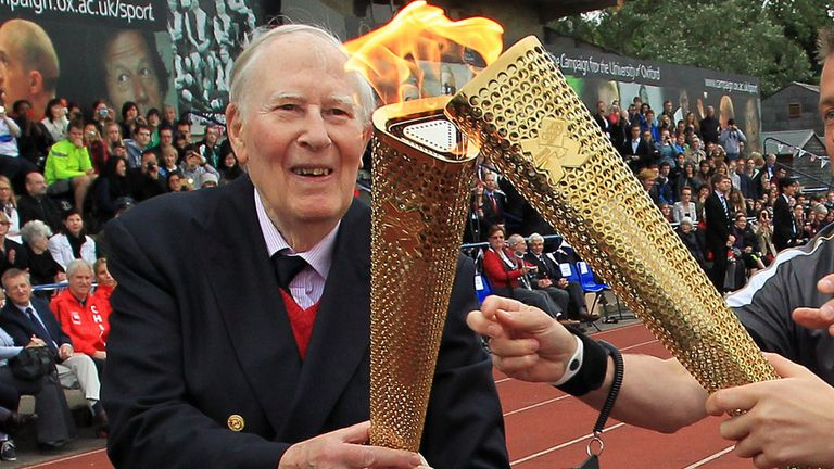 Sir Roger Bannister was the first man to break the four-minute mile barrier