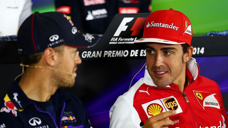 Alonso was the centre of attention