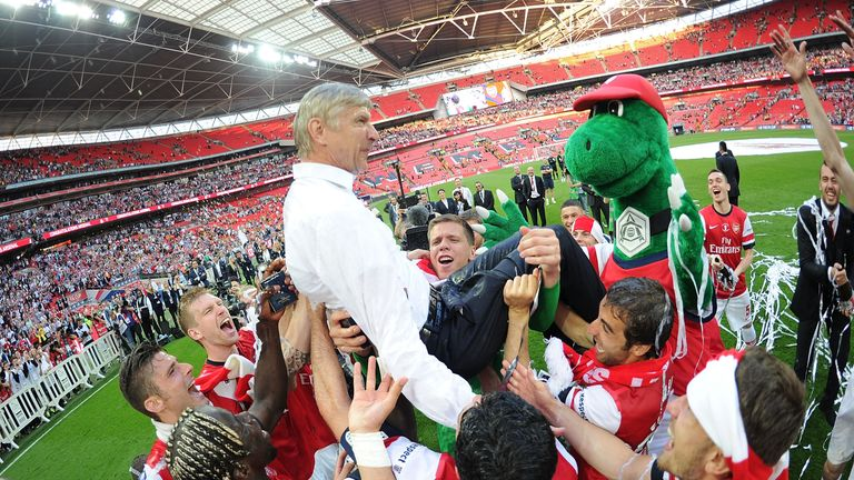 Arsenal finally celebrated silverware again in 2014