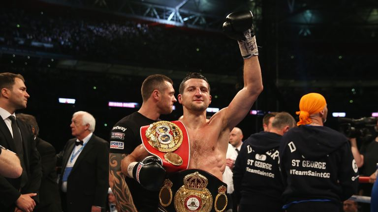 Carl Froch: is giving away the IBF strap - and Paul Smith can see why