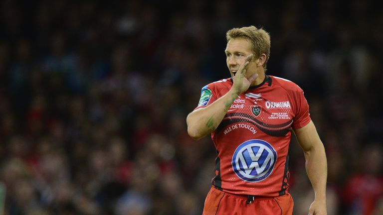 Jonny Wilkinson in action during the Heineken Cup final against Saracens in Cardiff