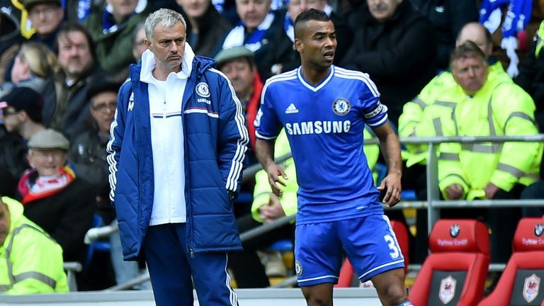 Mourinho managed Ashley Cole during both his spells as Chelsea manager