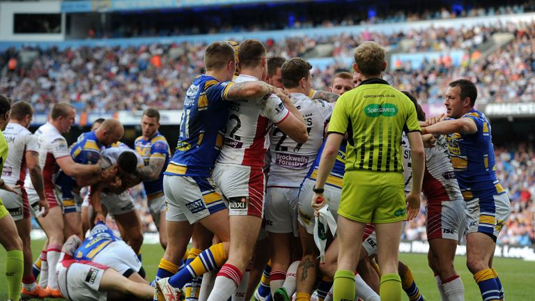 Wigan and Leeds didn't hold back on Saturday night
