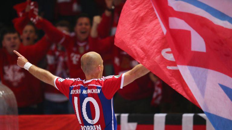 Arjen Robben: Celebrates his extra-time strike