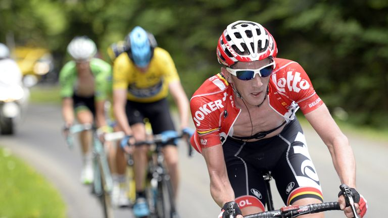 Jurgen van den Broeck appears to be getting back to the form that saw him twice finish fourth at the Tour de France