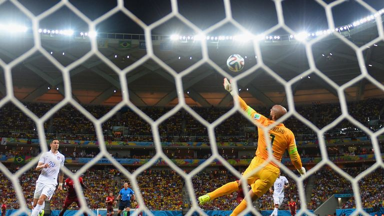 Tim Howard's saves have seen the USA move into the knockout stages in Brazil.