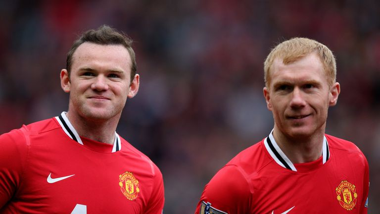 Wayne Rooney says he has watched how Paul Scholes played in midfield