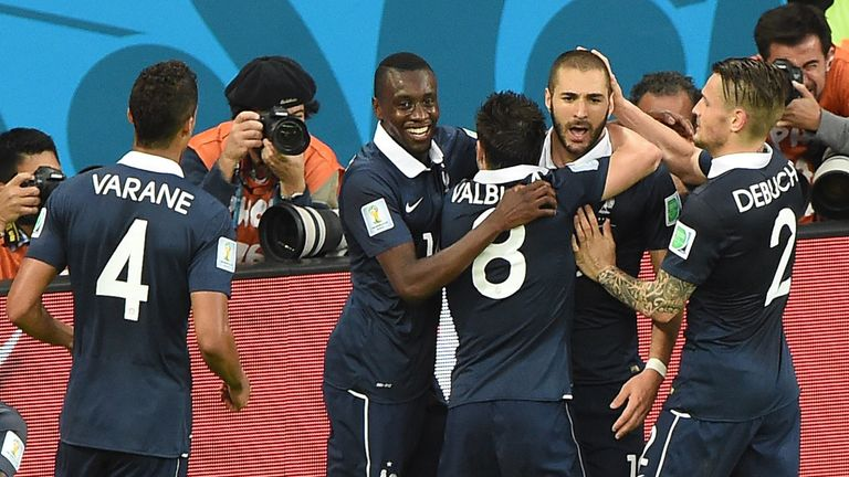 France were aided by goal-line technology for their second goal against Honduras