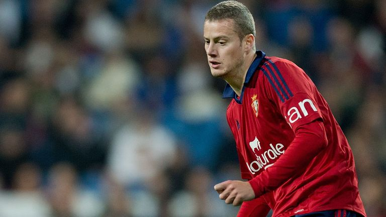 Oriol Riera: Playing for Osasuna against Real Madrid in January