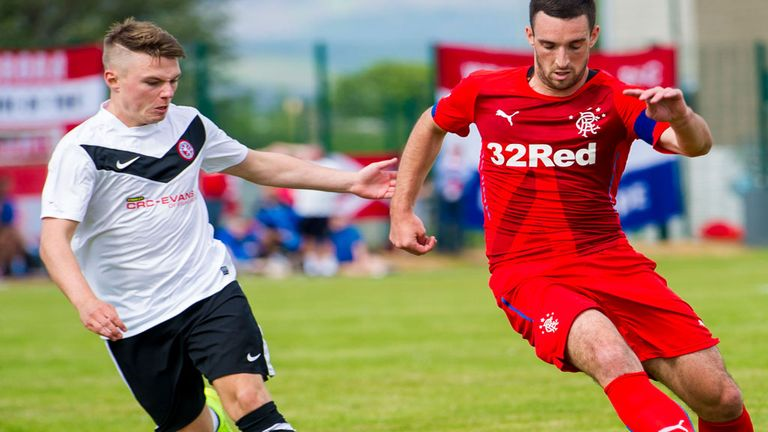 Action from Brora Rangers home friendly against Championship newcomers Rangers on July 5, 2014