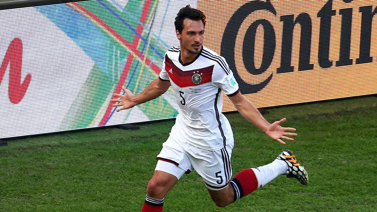 Hummels won the World Cup with Germany in Brazil last summer