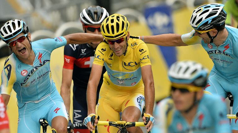 Vincenzo Nibali is one of only six riders to have won all three grand tours