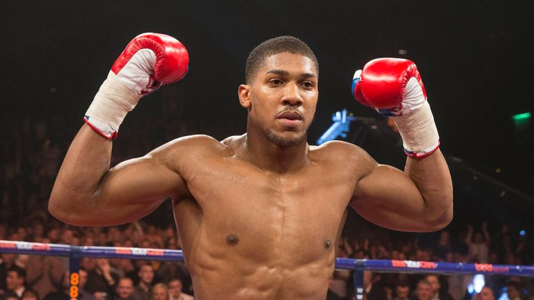 Joshua at 17st four years ago, over a stone lighter than his most recent weigh-in