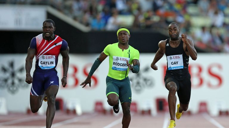 Tyson Gay: In the black vest, at Lausanne Diamond League meeting, was under Dummond's tutelage when banned