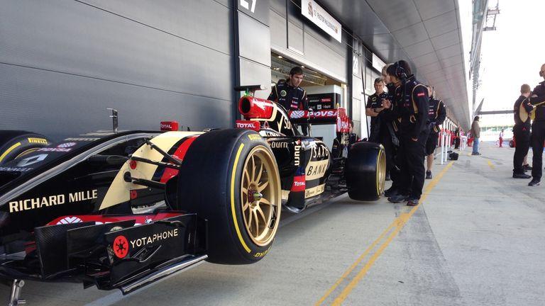 The Lotus on concept Pirelli 18 inch tyres