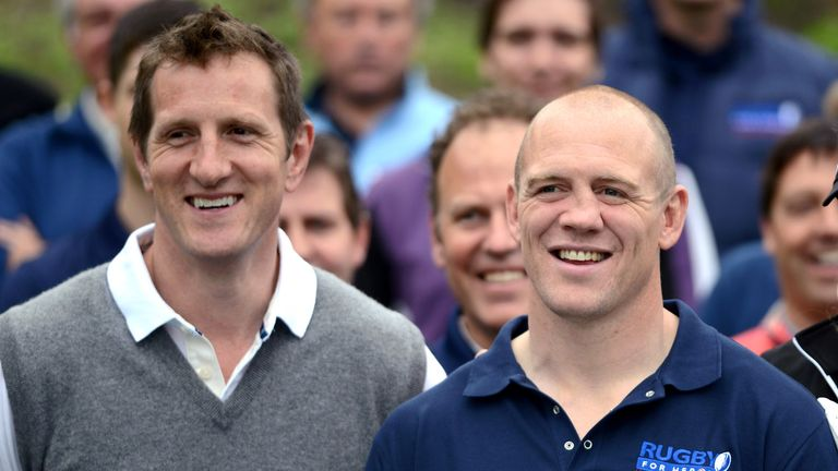 Will Greenwood and Mike Tindall in celebrity golf classic at Mannings Heath Golf Club on May 20, 2013