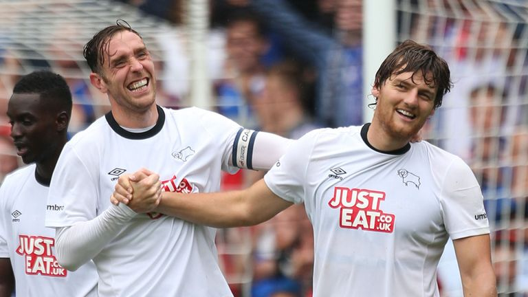 Chris Martin (right): Scored twice in Derby rout