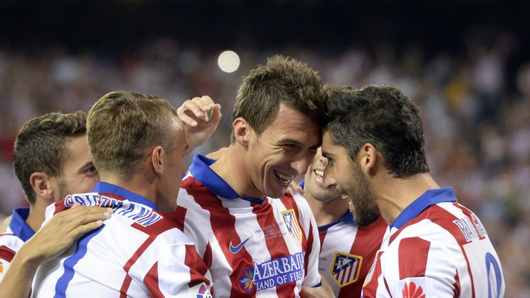 Mario Mandzukic celebrates Super Cup goal against Real Madrid last month