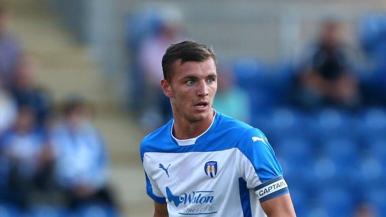 Colchester's Alex Gilbey is carrying an injury