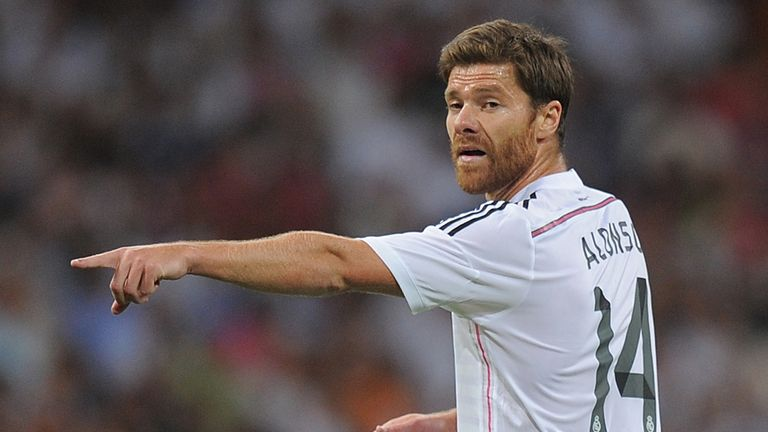 Xabi Alonso in action for Real Madrid