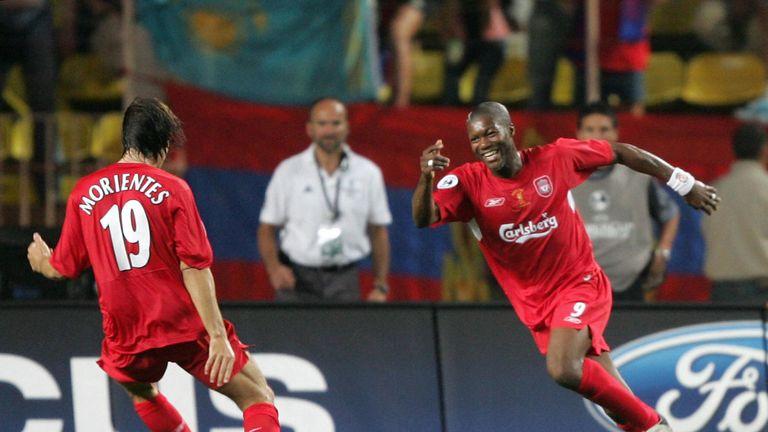 Djibril Cisse celebrates in Monaco