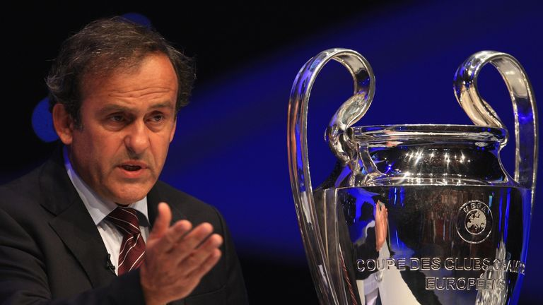 Michel Platini: UEFA president wants sin bins and white cards introduced