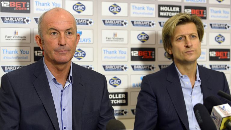 Tony Pulis with Crystal Palace chairman Steve Parish: The duo parted on good terms according to Sky Sports News HQ's Jim White