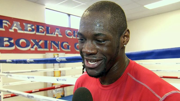Deontay Wilder: Challenging for a world title this weekend