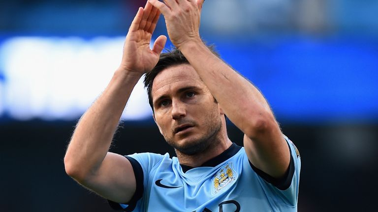 Frank Lampard: Netted City's equaliser against his old club Chelsea