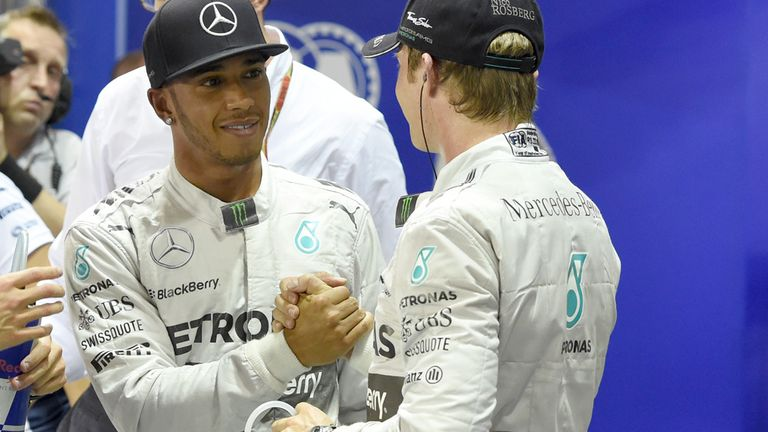 Amid all the title tension, a handshake between the duelling Merc pair