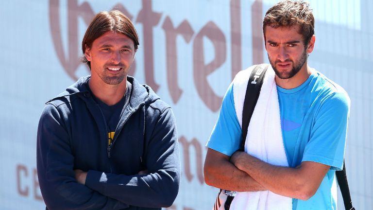 Cilic with coach Goran Ivanisevic