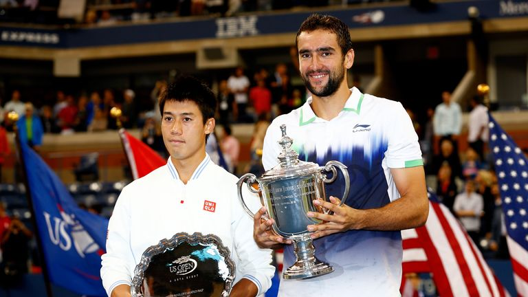 Marin Cilic (R) And Kei NIshikori: Played in historic final at the US Open
