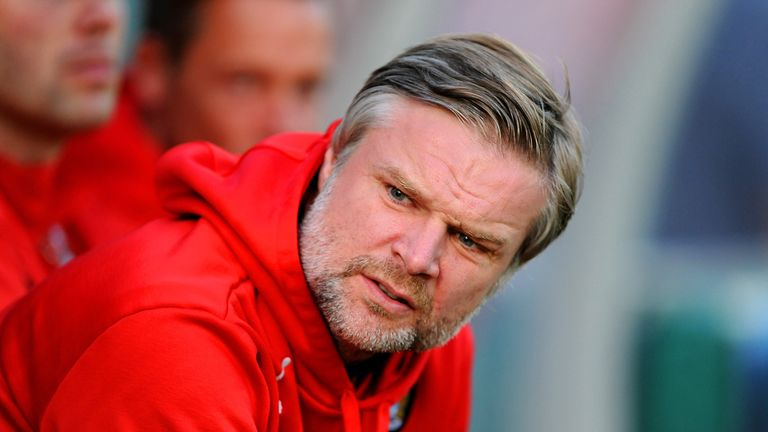 Manager Steven Pressley watched his Fleetwood side win