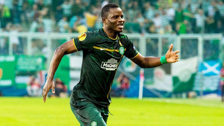 Mubarak Wakaso: Celtic midfielder celebrates his first goal for the club