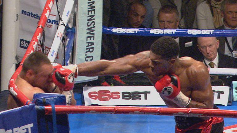 Anthony Joshua defeated Denis Bakhtov in impressive fashion