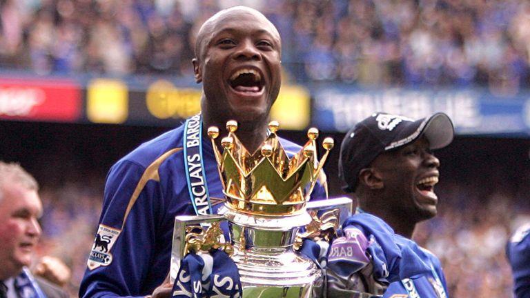 William Gallas: Celebrates Chelsea's 2006 title triumph