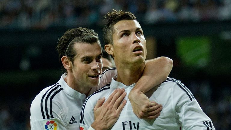 Sky Sports viewers can watch Real Madrid's Gareth Bale and Cristiano Ronaldo challenge for the La Liga title