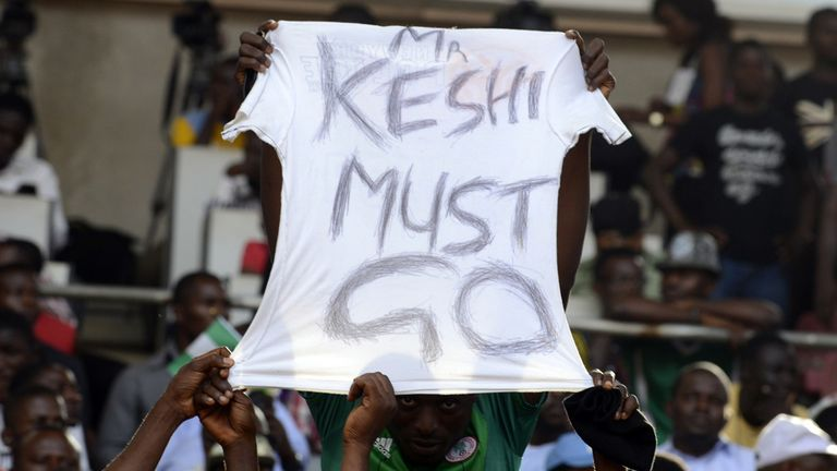 Nigeria fans: Called for Keshi to go during Sudan game