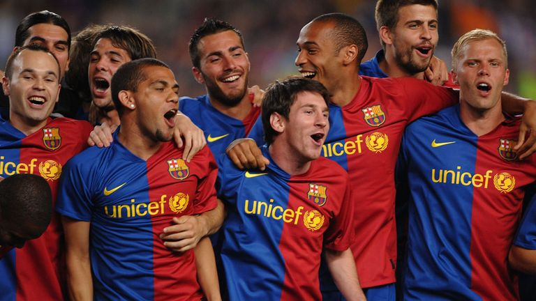 Barcelona became the first Spanish team to win the treble in 2009