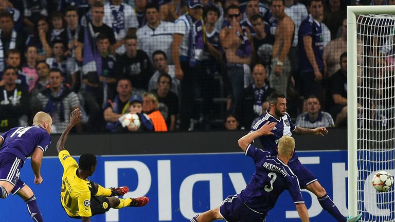 Adrian Ramos: Dortmund sub scores his second at Anderlecht