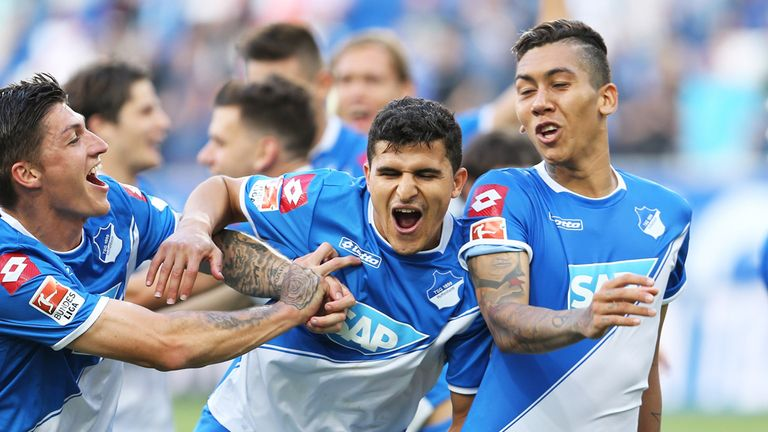 Hoffenheim moved up to second place in the table