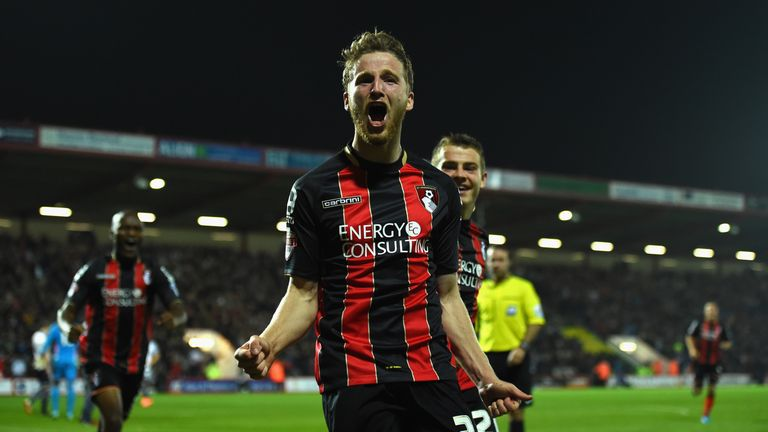 Eunan O' Kane celebrates after opening the scoring against West Brom