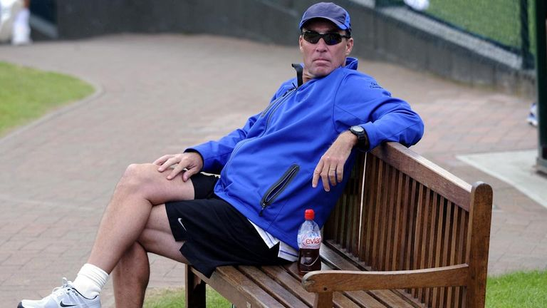 Ivan Lendl takes a break from coaching Andy Murray at SW19