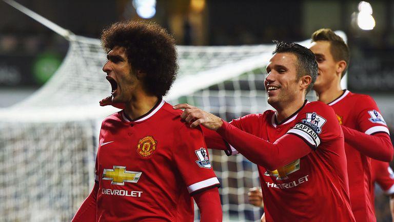 Marouane Fellaini finally scored his first goal for Manchester United