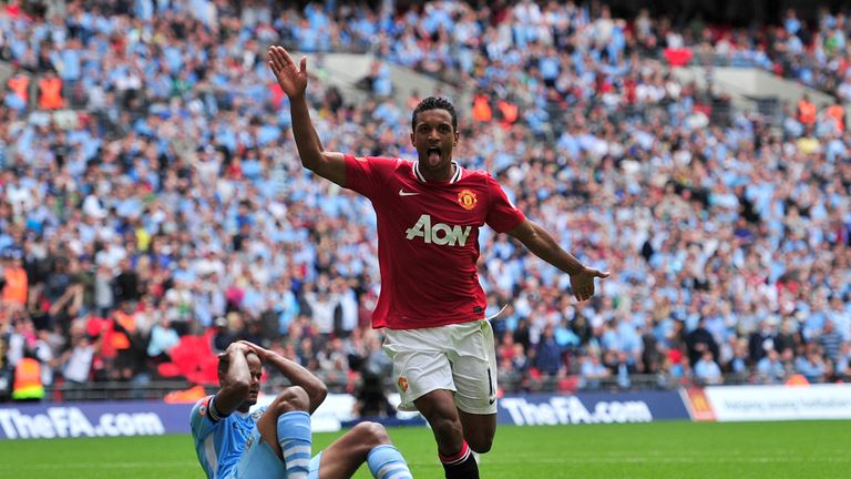 Nani netted 25 Premier League goals during his time at United
