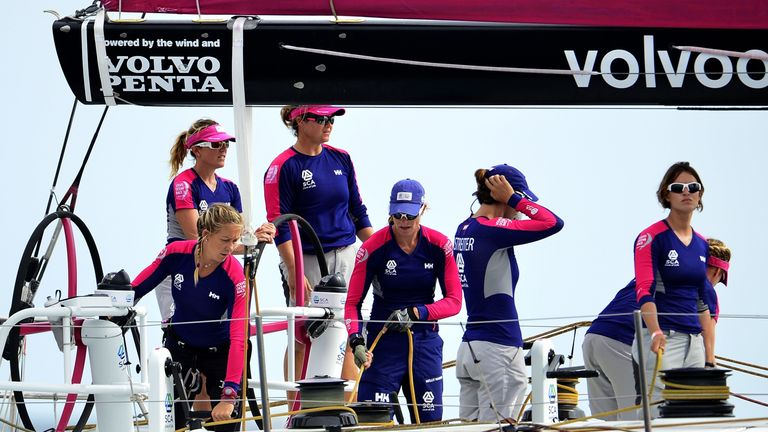 Caffari and Brouwer were both part of Team SCA in the last race