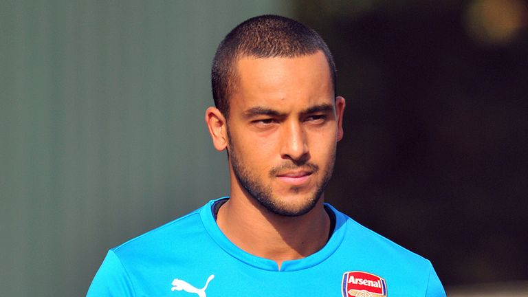 Theo Walcott played his first competitive game since January when coming on against Burnley